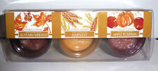 Yankee Candle GIFT SET OF 3 FALL VOTIVE HOLDERS & VOTIVES   ~NEW~