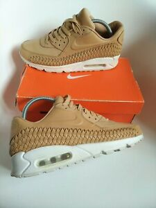 Nike air max 90 mens trainers Size 7 tan leather woven limited edition wheat vt