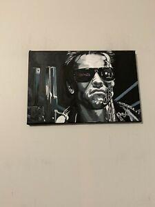 Terminator Arnold Schwarzenegger Movie 12x18 Pop Art Painting Chris Cargill