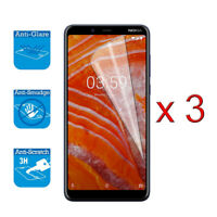"For Nokia 3.1 Plus 6.0"" - Screen Protector Shield Cover Guard LCD Film Foil x 3"
