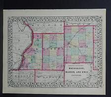 Illinois County Map 1870, Henderson, Warren, & Knox Counties Z1#19