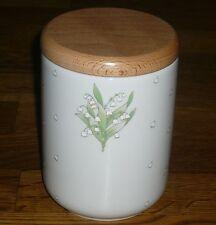 1 Vorratsdose Dose  mit Holzdeckel 13 cm   Seltmann  Weiden  Maiglöckchen