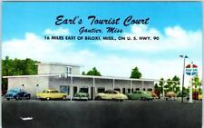 Guatier, Mississippi Ms Roadside Earl'S Tourist Court ca 1950s Postcard