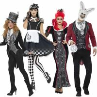 Dark Alice Wonderland Womens Fancy Dress Costume Ladies Halloween Horror Adult