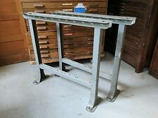 Vintage Industrial Metal Workbench Legs New Britain Machine.