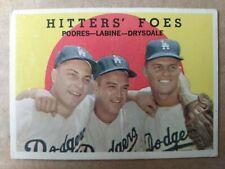 1959 Topps #262 Hitters Foes, Podres-Labine-Drysdale