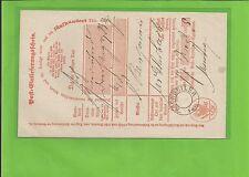 Preußen/Eschweiler Aptierter Vorphil. K2 on Kabinett-Postschein 1865