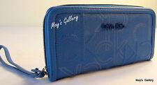 Calvin Klein Wallet Wristlet Hand Tote Bag Handbag Purse faux Leather  Zip CK