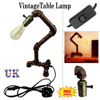 Retro Vintage Industrial Steampunk Style Steel Water Desk Table Lamp Light UK
