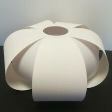 Ausgefallenes Textil Lampenschirm E27 Stoffschirm weiß Stehleuchte Pendelleuchte