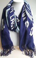 Sperry Top-Siders logo scarf wrap gauzy lightweight blue and white 22X72