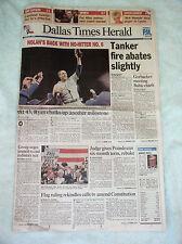 Nolan Ryan 6th No-Hitter -- Original Dallas Newspapers