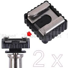 """2x Standard 1/4"""" Screw Hole Cold Foot to Hot Shoe Mount Adapter for Canon Flash"""