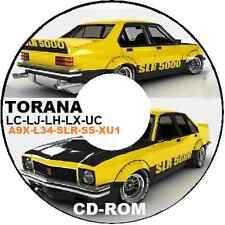 Holden TORANA LC LJ LH LX UC Xu1 L34 A9x Parts Assembly Restoration CDROM