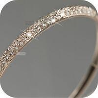 18k rose gold gp made with SWAROVSKI crystal slip-on bangle bracelet classic