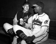 1948 Cleveland Indians BOB FELLER & SATCHEL PAIGE Glossy 8x10 Photo Poster