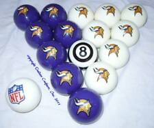 NEW Licensed Minnesota Vikings Football Billiard Pool Cue Ball Set FREE SHIPPING