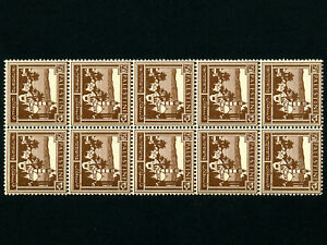 Palestine:Plate 250 Mils x 10 Stamps,Mint * MNH * RARE *