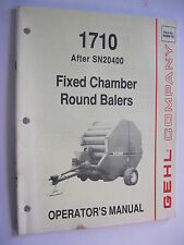 1991 GEHL 1710 (After SN20400) FIXED CHAMBER ROUND BALER OPERATOR'S MANUAL