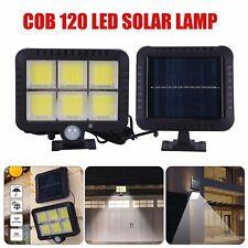 120 LED Außen Solarleuchte Bewegungsmelder strahler Gartenlampe Licht 2400AMH