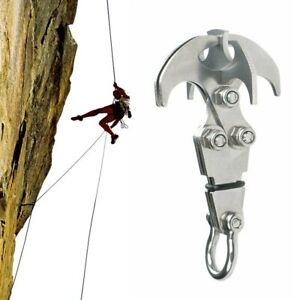 Folding Gravity Grappling Hook Outdoor Steel Climbing Claw Survival Carabiner