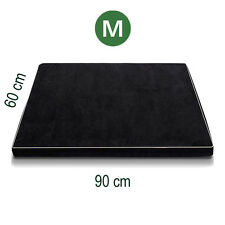 90cm Memory Foam Pet Bed Orthopedic Dog Beds Mat Cat Pad Cushion Medium Black