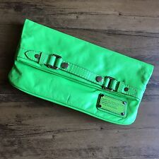 Marc By Marc Jacobs Neon Green Clutch Fold Over 3 Compartments Small