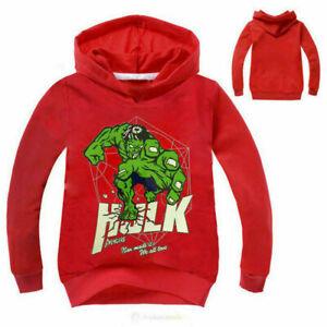 Jungen Mädchen Kinder Frühling Herbst Hulk Kapuzenpullover Sweatshirt Hoodies