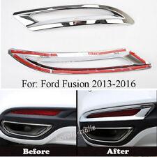 2pcs Chrome Rear Fog Lamp Light Cover Trim For Ford Fusion Mondeo 2013-2018