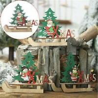 Wooden Standing Christmas Santa Claus Ornament Xmas Table Ornament Decoration