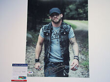 BRANTLEY GILBERT SIGNED 11X14 PHOTO PSA/DNA Y40985 BOTTOMS UP HELL ON WHEELS