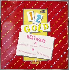HEATWAVE 4tr CLASSIC hits  UK 12in 1986 Old Gold 12inch Gold