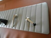 "DOOR PANEL INSERTS UPPER PANELS 47/55 CHEVY TRK MED GRAY (OLD SKOOL) 2"" CHANNELS"