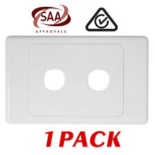 1 x 2 Gang Wall Plate - Electrical Wallplate Empty Switch plate - SAA
