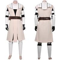 Star Wars: The Clone Wars -Obi- Wan Kenobi Cosplay Costume Suit Uniform