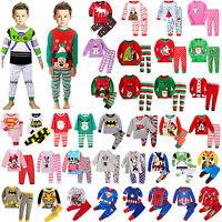 Kids Boys Girls Xmas Pj's Sleepwear Nightwear Christmas Pajamas Baby Outfits Set