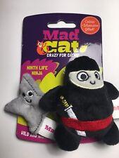 Ninja & Throwing Star Mad Cat Kitten Crinkle Toys CATNIP & SILVER VINE Kicker