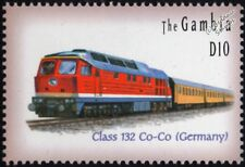 DR (German Railways) Type 130 / Class 132 Diesel-Electric Locomotive Train Stamp