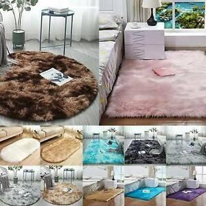 Round Circle Non Slip Shaggy Carpet Living Large Floor Mats Washable Fluffy Rug`