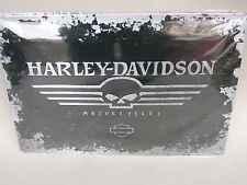 Blechschild HARLEY-DAVIDSON Skull Logo 30x40. Neu