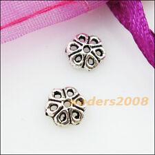 60 New Connectors Tiny Flower Tibetan Silver End Bead Caps 7mm