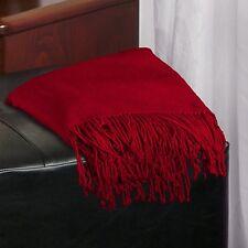 """Aus Vio BM12222 Luxury Silk Throw, Red, 50"""" x 62"""""""