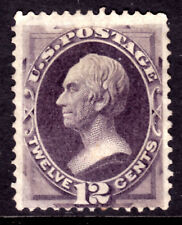 USA #151 12c DULL VIOLET, 1870 HENRY CLAY, VG-F, UNUSED