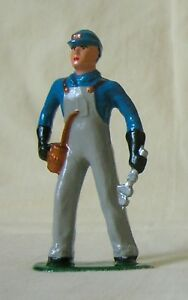 Mechanic with Oil can & Wrench, Standard Gauge train figure, Repro for layout