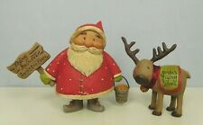 Small 2 piece with a Woodsy Santa and Reindeer w/signs- New Blossom Bucket#82891