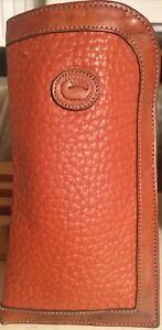 "Vintage Dooney & Bourke Leather Eyeglass Case 3.5 X 7"""