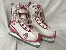 Ccm Ice Figure Skates. White and Pink. Youth Size 13 J