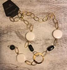 Gold Tone Fashion Chain w/ Pendant Bead Accents #604