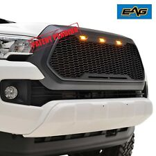 EAG Vicious Style ABS Matte Black Mesh Grille With LED Light 16-17 Toyota Tacoma