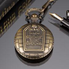 Reloj De Bolsillo PACIFISTOR para Hombre de Cuarzo Analógico Vintage Bronce Colgante Cadena Regalo